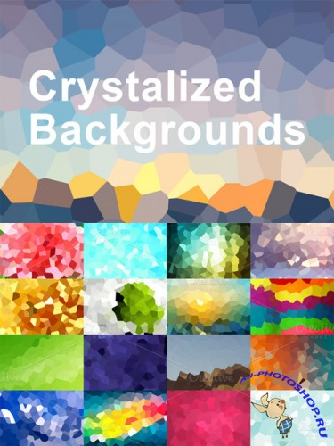 55 Crystalized Backgrounds
