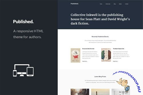 CreativeMarket - Published - Responsive Author Theme 32067
