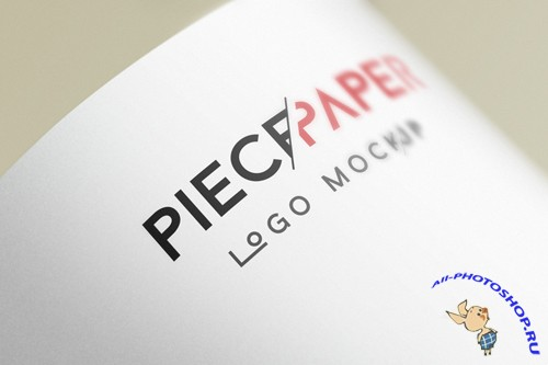 Paper Logo Mock-Up Template Vol 2