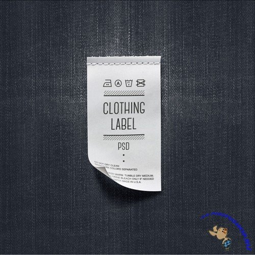 Clothing Label PSD Template