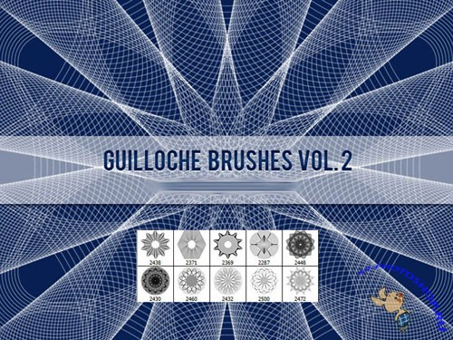 Guilloche Photoshop Brushes Vol. 2
