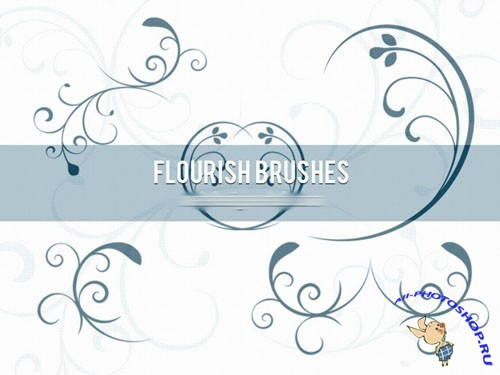 Flourish Photoshop ABR Brushes