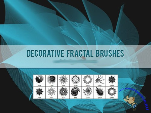 Decorative Fractal Photoshop Brushes Vol. 2