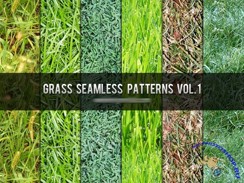 Grass Seamless Photoshop Patterns Vol. 1