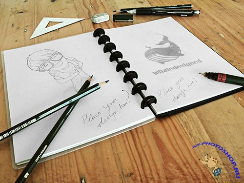 Sketch Book Mockup PSD Template