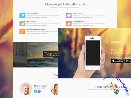 Landing Page PSD Template