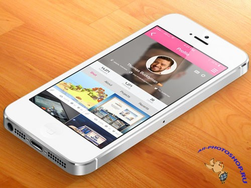 8 Dribbble Mobile App Screens - PSD Template