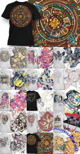Designious T-Shirts Vector Templates Collection
