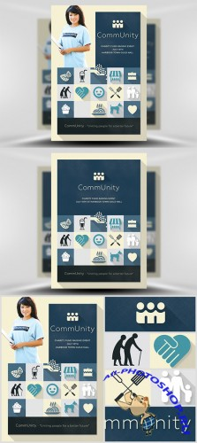 Flyer Template PSD - CommUnity