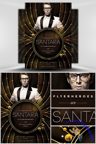 Flyer Template PSD - Santara