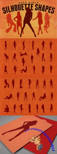 Vector Silhouette Shapes - Sexy Girls