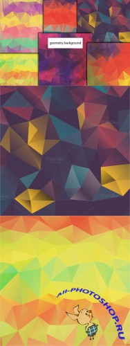 Geometry Backgrounds Vector Set