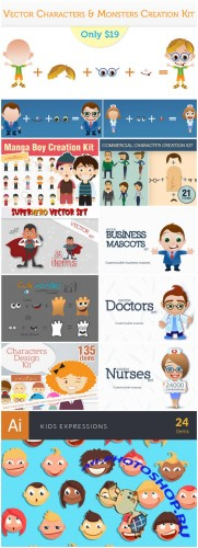 Vector Characters & Monsters Creation Kit - InkyDeals