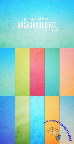 Grunge Gradient Background Set