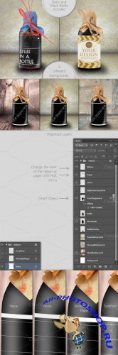 CreativeMarket - Bottle of Cola Mockup 10441