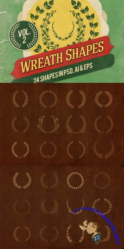 Vector Wreath Shapes Vol 2