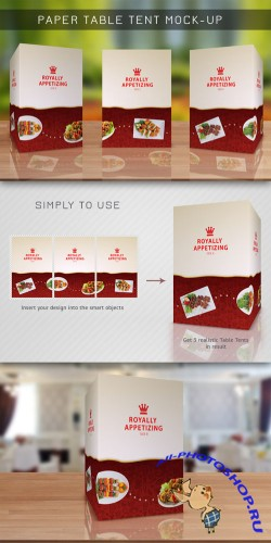 CreativeMarket - Table Tent Mock-up Template Vol.8