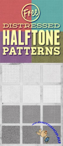 12 Distressed Halftone Photoshop Pattern Textures