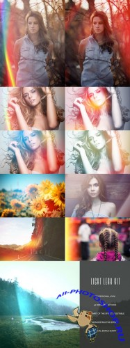 Actions for Photoshop - Light Leak