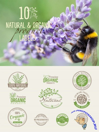 Vector Set - 10 Natural Organic Product Labels