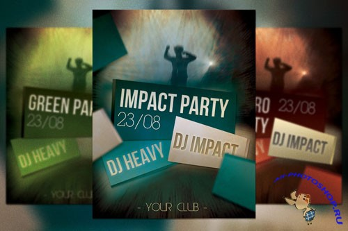 Impact Party Flyer PSD Template