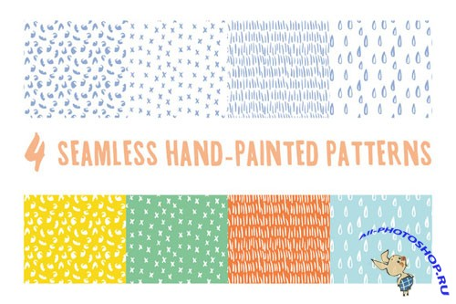 CreativeMarket - Hand-Painted Seamless Patterns 30392