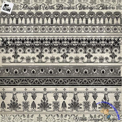 PS Brushes - Vintage Style Borders