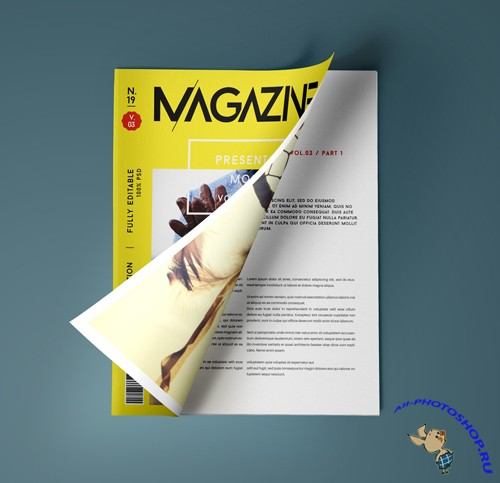 Magazine Presentation Mockup Template Vol 3