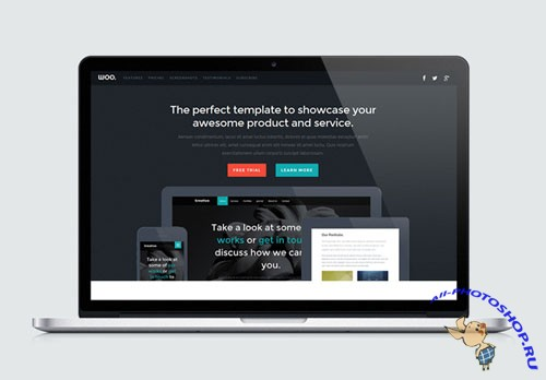 Woo – Responsive HTML5 and CSS3 Landing Page Template