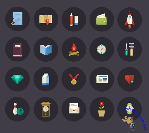 Brand Flat PSD Icons