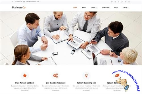 CreativeMarket - BusinessCo-Responsive HTML Template 43667