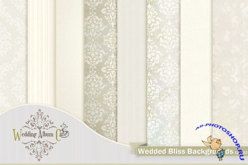 CreativeMarket - Wedded Bliss Backgrounds 7016
