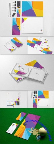 8 Photorealistic Stationery Branding PSD Mockups