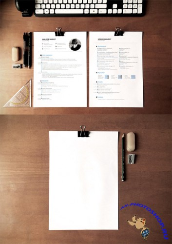 Letter Mock-up Templates PSD