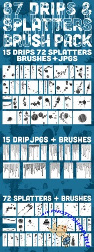 Photoshop Brushes - Drips and Splatters