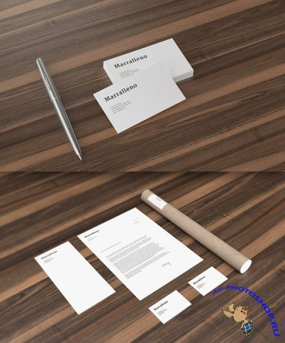 Corporate Identity Presentation Mock-up PSD Templates