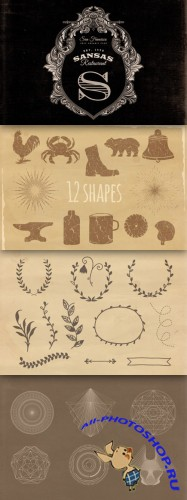 Victorian Floral and Vintage Vector Graphic Bundle