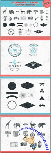Vintage Vector Adventure Shapes and Logos