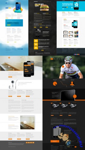 5 Website Templates PSD