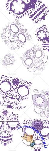 Photoshop Brushes Sugar Skulls 15