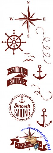 Nautical Elements Vector Set 1