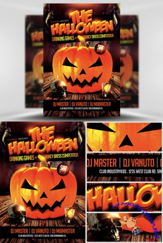 Halloween Drinking Games Flyer Template