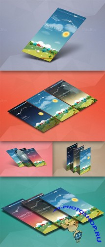 CreativeMarket - App Mock up - Isometric Scenes 28033