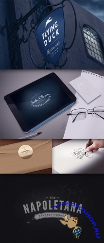 CreativeMarket 22521 - Logo Mock-Ups vol. 2
