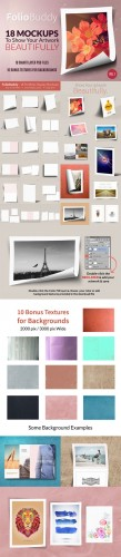 CreativeMarket - 18 Mockups for Portfolio Display 55935