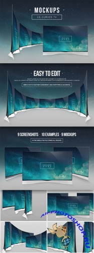 CreativeMarket - LG Curved TV Mockups 63051