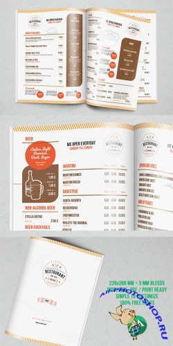 Creativemarket - Restaurant Menu Template 43895