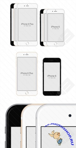 PSD Template - iPhone 6 Mockup