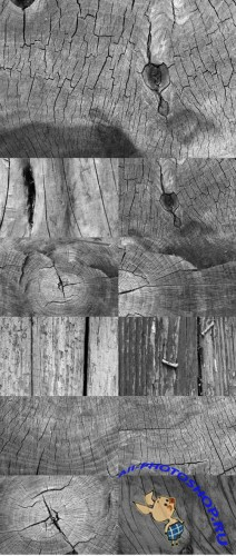 Black and White Wood Textures Set