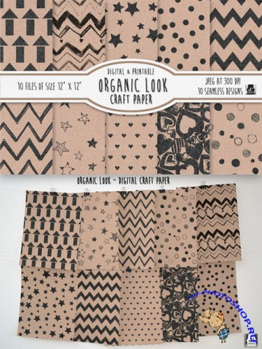 CreativeMarket - Organic Printed Craft Paper/Patterns 38310